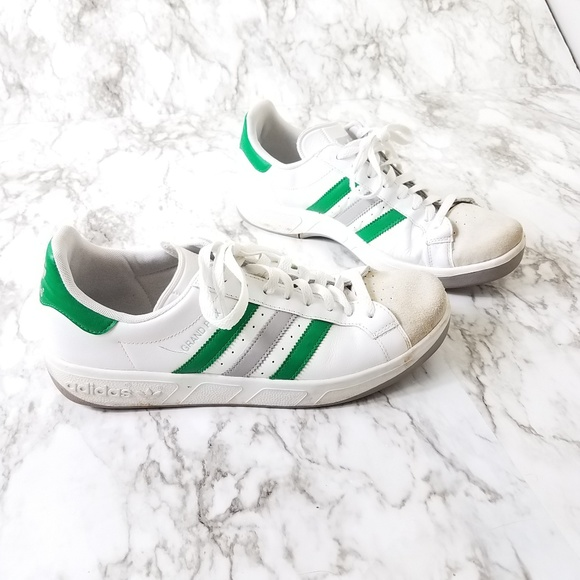 Adidas grand prix sneakers 3 stripes Green Size 10
